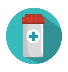 Medicine bottle container vector