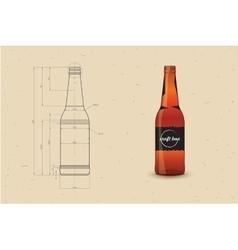 Print Of Beer Bottle vector image