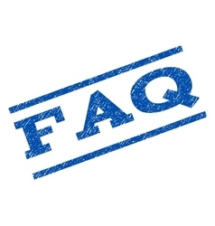 Faq watermark stamp vector