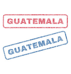 Guatemala textile stamps vector