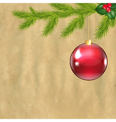 Christmas vintage composition vector