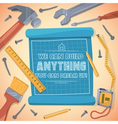 We can build anything you can dream up vector image