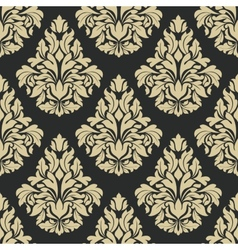 Classic floral damask seamless pattern vector