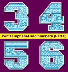 winter abc 08 vector image