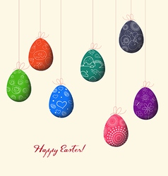 Colorful eggs for easter vector