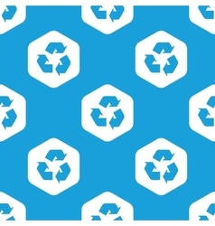 Recycle sign hexagon pattern vector