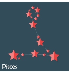 Pisces zodiac sign of the beautiful bright stars vector
