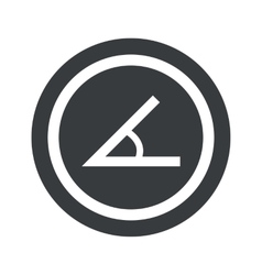 Round black angle sign vector