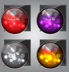 Glossy colorful buttons vector