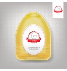 Plastic food container for chicken yellow vector