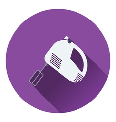 Kitchen hand mixer icon vector