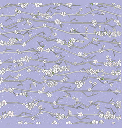 Abstract sakura seamless pattern floral branch vector