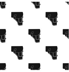 Army handgun holster icon in black style isolated vector