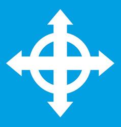 Arrows target icon white vector