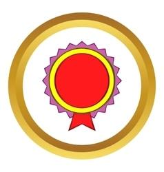 Award rosette icon cartoon style vector