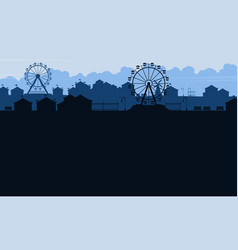 background amusement park beauty scenery vector image vector image