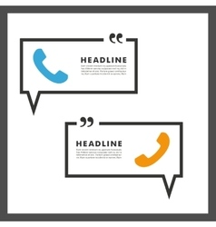 background of handsets and speech bubbles vector image