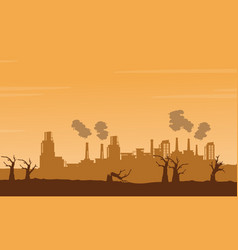 Bad environment with many industry background vector