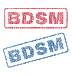 Bdsm textile stamps vector
