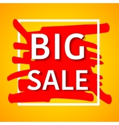 Big sale poster for your vector image