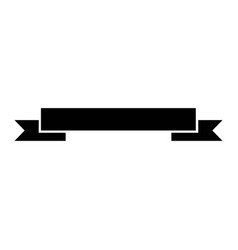 black ribbon banner decoration ornament vector image