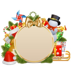 Christmas Concept with Baubles vector image vector image
