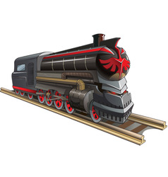 demonic train vector image