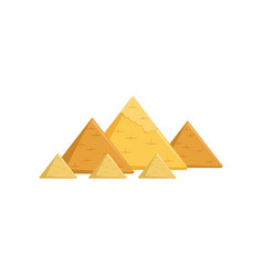 Egyptian great pyramids attractions of egypt vector