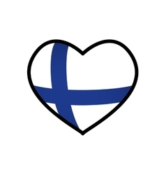 Flag icon Finland design graphic vector image