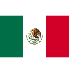 Flag of Mexico in correct size and colors vector image vector image