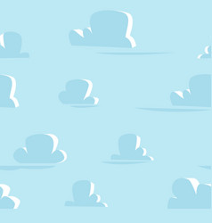 flat clouds pattern background pattern vector image