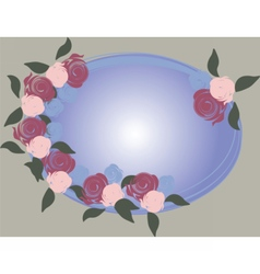 Floral rose frame vector