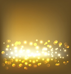 Golden elegant abstract background with bokeh vector image vector image