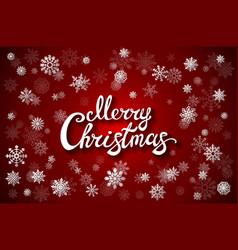 merry christmas glittering lettering design eps vector image vector image