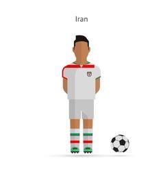 National football player Iran soccer team uniform vector image vector image