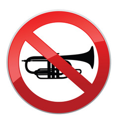 no sound sign keep quiet symbol loud sounds ban vector image
