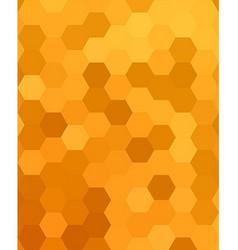 Orange abstract hexagonal honey comb background vector
