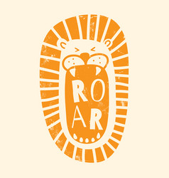 Orange textured roar vector