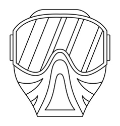 Paintball mask icon outline style vector image vector image