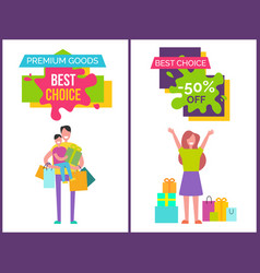 premium goods and best choice vector image vector image