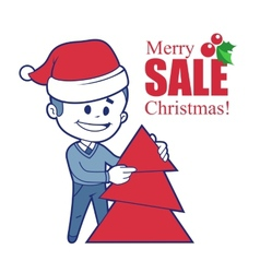 Promotional banner with Santa Claus vector image