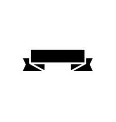 ribbon 2 corners up icon vector image