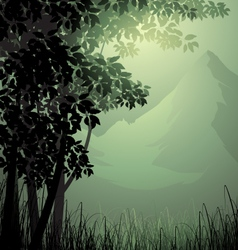 Trees scenery vector