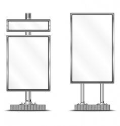 vertical billboard vector image vector image