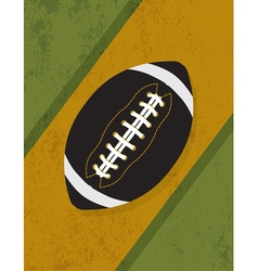 Vintage American Football Background vector image vector image