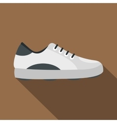 White golf shoe icon flat style vector