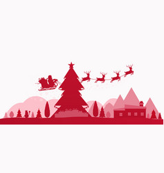 winter red holidays landscape vector image vector image