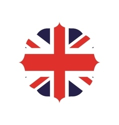 England flag isolated icon vector