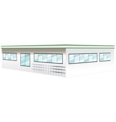 Architecture design for wide building vector