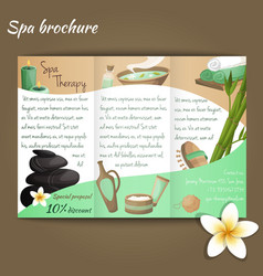 Spa salon brochure vector